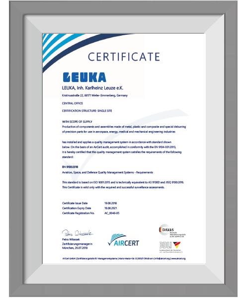 LEUKA-Zertifikat-EN9100-englisch